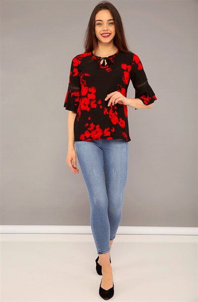 Blouse ZL209 Red